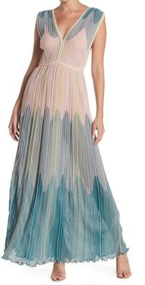 M Missoni Patterned V-Neck Maxi Dress