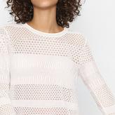 Maje Short decorative knit jumper