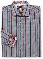 Robert Graham Big & Tall Cotton Striped Sportshirt