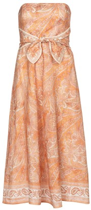 Zimmermann Brighton printed linen midi dress