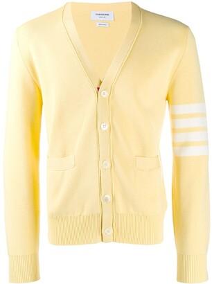 Thom Browne 4-Bar Stripe V-neck Cardigan
