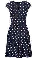 Ralph Lauren Petite Polka-Dot Jersey Dress