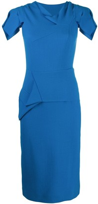 Roland Mouret Geometric Panelling Fitted Dress