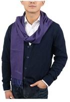 S.t. Dupont 100ws Vb Purple/blue Fine Purecashmere Classic Mens' Scarf.