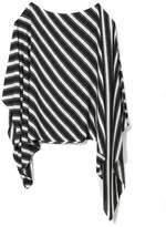 Vince Camuto Diagonal-stripe Poncho Blouse