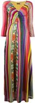Etro striped v-neck maxi dress