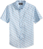 Retrofit Men's Flamingo Graphic-Print Cotton Pocket Shirt