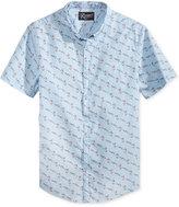 Retrofit Men's Flamingo Graphic-Print Cotton Pocket Shirt