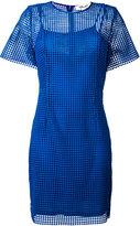 Diane von Furstenberg embroidered fitted dress - women - Polyester/Silk/Viscose - 8