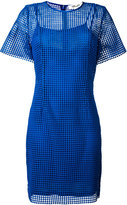 Diane von Furstenberg embroidered fitted dress - women - Silk/Polyester/Viscose - 8