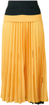 Marco De Vincenzo gathered waist pleated skirt
