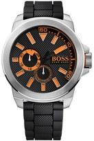 BOSS ORANGE Men's Multifunction Silicone Strap Watch, 50Mm