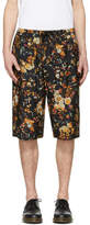 McQ Black Floral Track Shorts