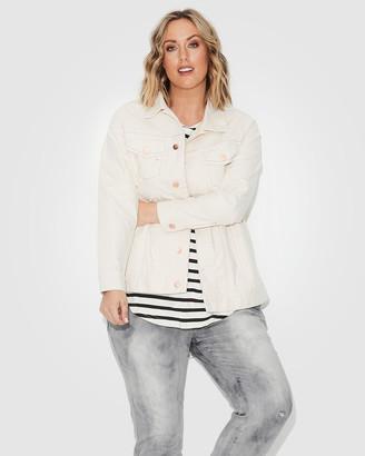 17 Sundays - Women's White Denim jacket - Trucker Jacket - Size One Size, 12 at The Iconic