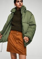 MANGO Organic linen cargo skirt