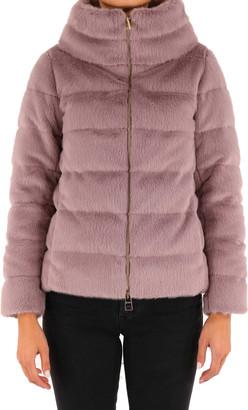 Herno Ecofur Doen Jacket Purple