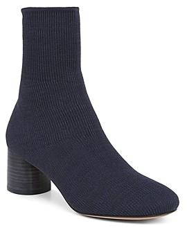 Vince Women's Tasha Round-Toe Mid-Heel Knit Booties