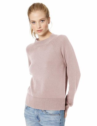 Daily Ritual Amazon Brand Women's 100% Cotton Mock-Neck Sweater