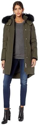 Moose Knuckles Shearling Stirling Parka (Black/Black) Women's Coat