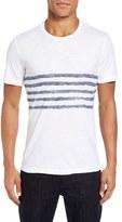 Velvet by Graham & Spencer Men's Peter Stripe Print T-Shirt