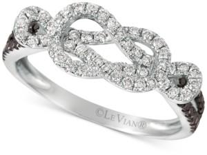 LeVian Le Vian Exotics Diamond Loop Ring (1/2 ct. t.w.) in 14k White Gold