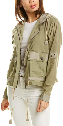 Jakett Breanna Leather-Trim Jacket