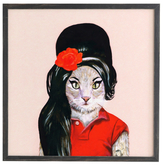 DENY Designs Winehouse Cat by Coco De Paris (Framed)