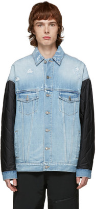 Givenchy Black and Blue Denim Quilted Jacket