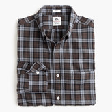 Thomas Mason Slim for J.Crew flannel shirt in brown plaid