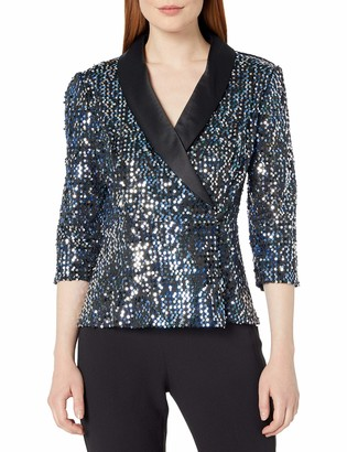 Alex Evenings Women's Sequin Blouse