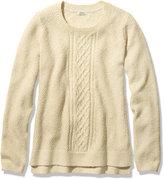 L.L. Bean Textured Stitch Sweater, Crewneck Pullover