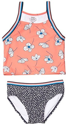 Hatley Delicate Flowers Tankini Set (Toddler/Little Kids/Big Kids) (Pink) Girl's Swimwear Sets