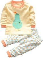 Mesinsefra Unisex Baby Pajamas Toddler Sleepwear Clothes Tops/Pants Set size 80cm