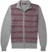 Loro Piana Fair Isle Cashmere And Silk-Blend Zip-Up Cardigan