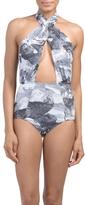 Cross Front Halter Swimsuit
