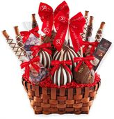 Mrs. Prindables Premium Festive Deluxe Caramel Apple Basket Gift Set