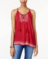 American Rag Embroidered Sleeveless Top, Only at Macy's