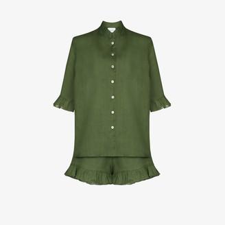 Sleeper Ruffle Linen Pyjamas