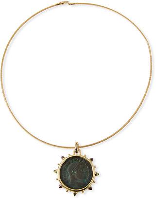 Dubini Roman Bronze Coin Choker in 18k Gold