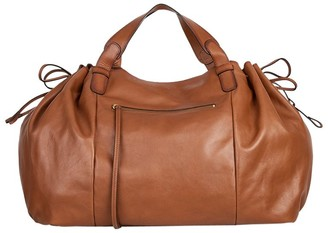 Gerard Darel Le Maxi GD Leather Shoulder Bag, Camel