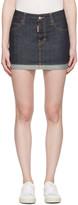 DSQUARED2 Blue Denim Glam Head Miniskirt