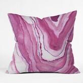 """Viviana Gonzalez Agate Indoor/Outdoor Throw Pillow East Urban Home Size: 16"""" x 16"""", Color: Pink"""