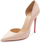 Christian Louboutin Iriza Patent Half-d'Orsay 100mm Red Sole Pump, Poudre