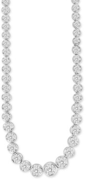 """Macy's Diamond 18"""" Collar Necklace (2 ct. t.w.) in 14k White Gold"""