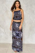 Nasty Gal nastygal Take the Print Maxi Skirt