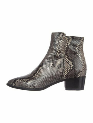 Barbara Bui Snakeskin Animal Print Boots Grey