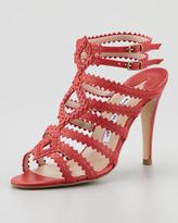 Manolo Blahnik Ries Pinked Strap Sandal
