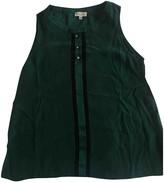 Claudie Pierlot Green Silk Top for Women