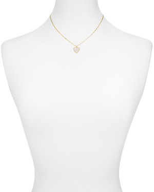Argentovivo Mother of Pearl Heart Pendant Necklace in 18K Gold-Plated Sterling Silver, 16