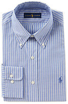 Polo Ralph Lauren Fitted Classic-Fit Button-Down Stripe Oxford Dress Shirt